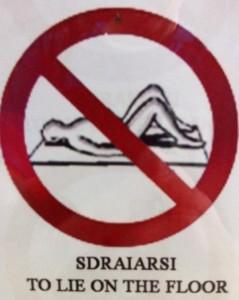 Auf den Boden legen verboten!